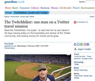 Twitchhiker in The Guardian