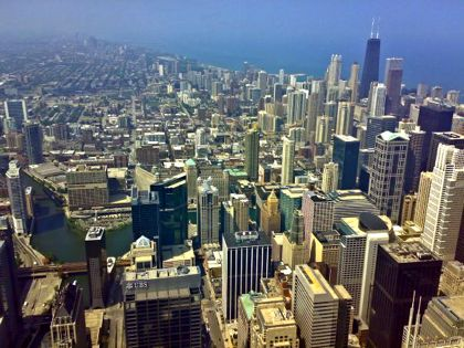 Twitchhiker - the view from Sears Tower, 2007
